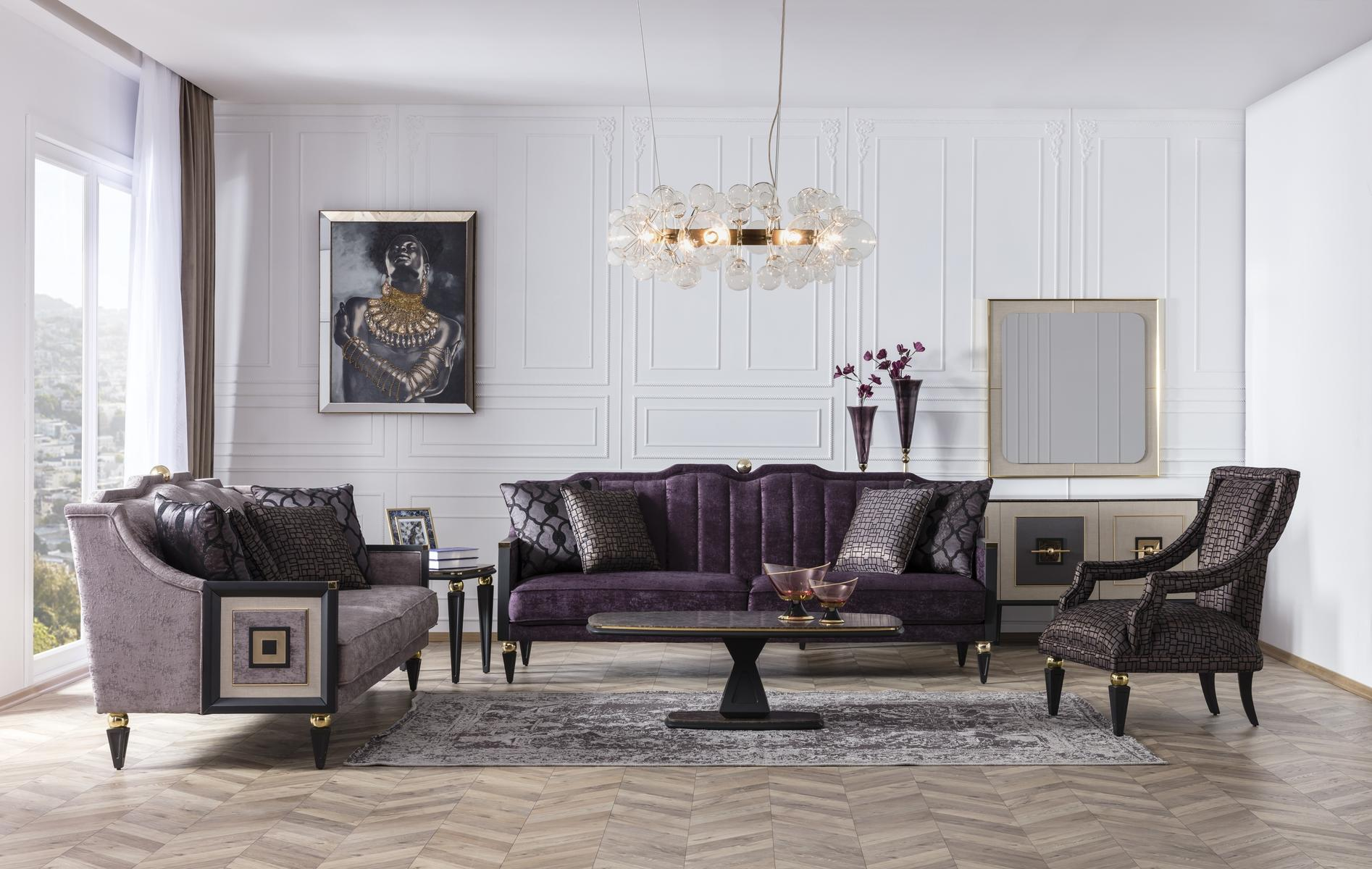 Gold Sofa Set | Area Mobilya